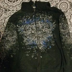 Black design hoodie